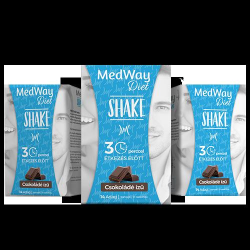 2 hetes MedWay Diet csomag - csokoládé ízű