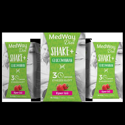 2 hetes MedWay Diet csomag - eper ízű, glükomannannal
