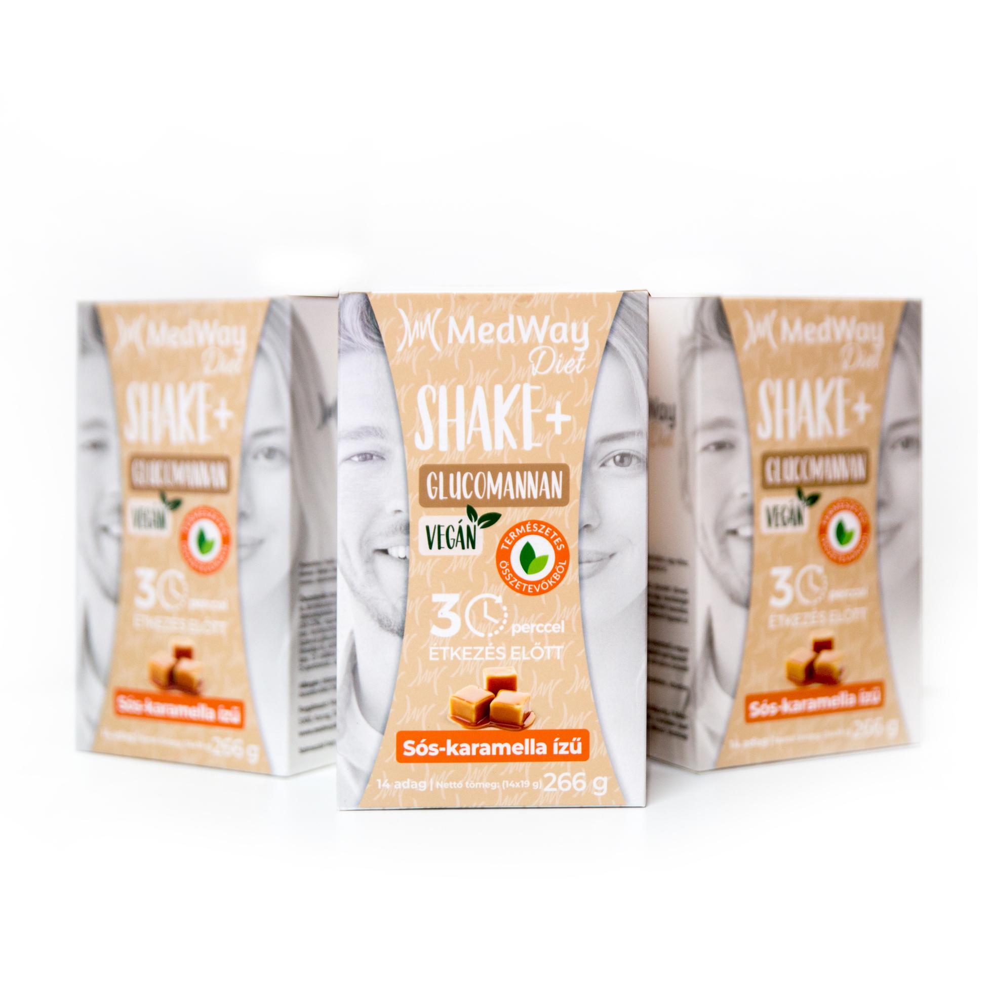 2 hetes MedWay Diet Vegán csomag - sós-karamella ízű glükomannánnal