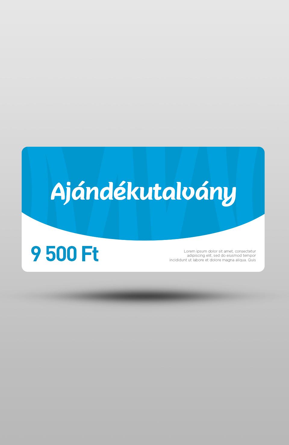 Ajándékutalvány - 9500 Ft